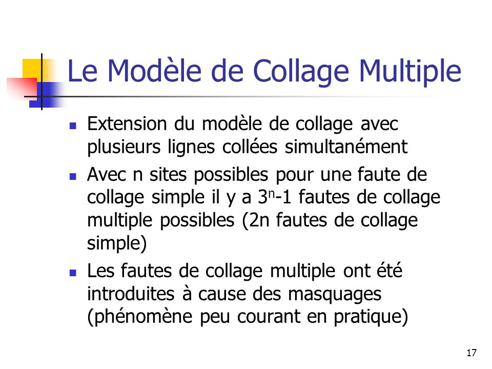 Le Modèle de Collage Multiple