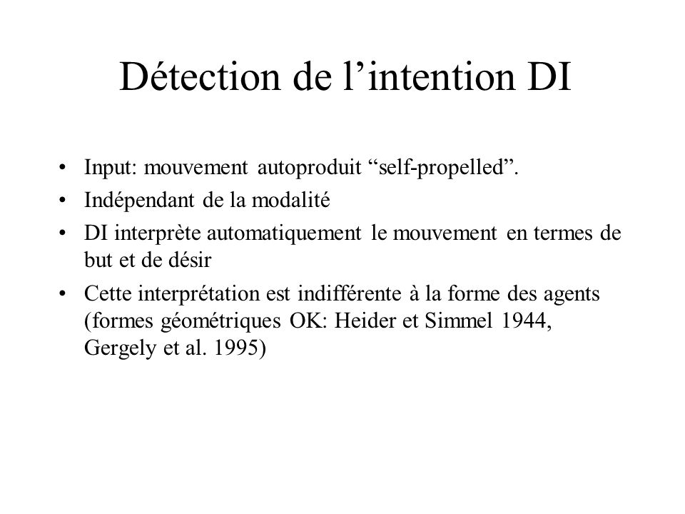 Détection de l'intention DI