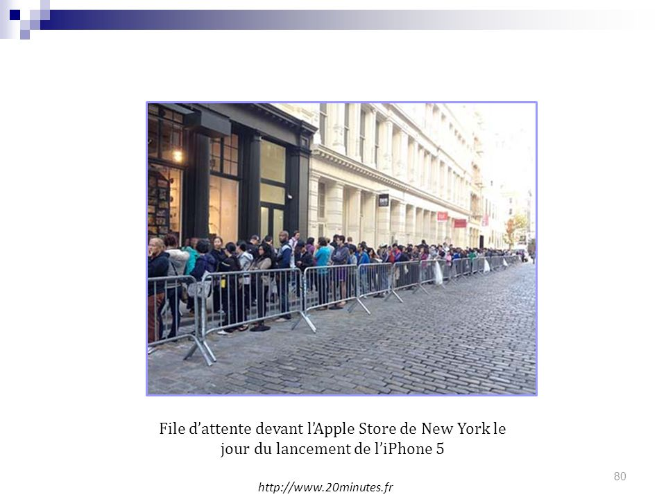 LUDOVIC File d'attente devant l'Apple Store de New York le jour du lancement de l'iPhone