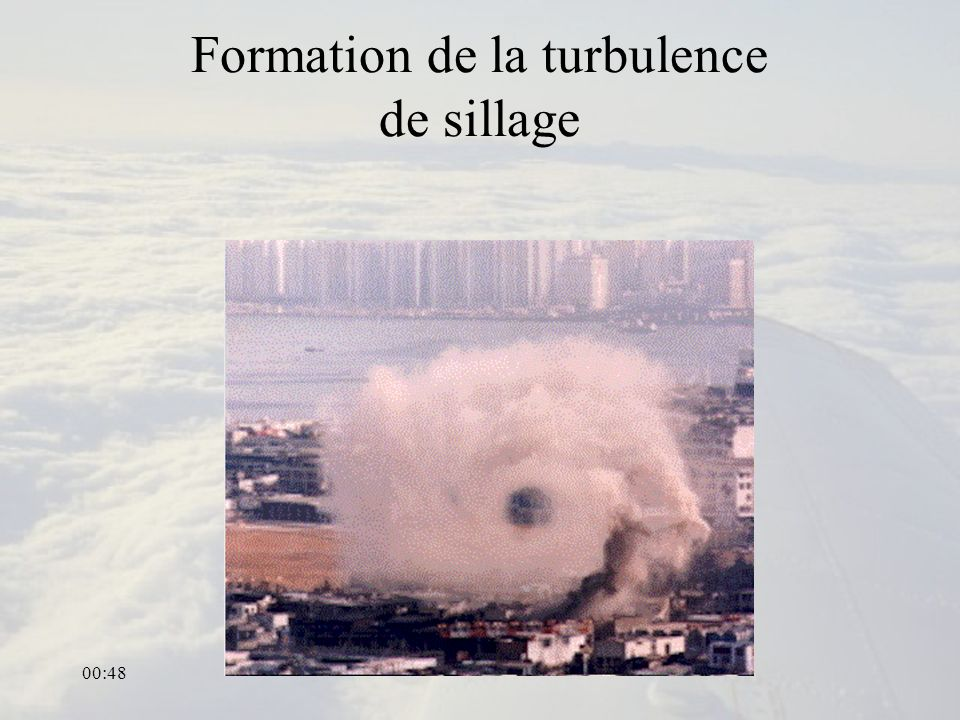 Formation de la turbulence de sillage
