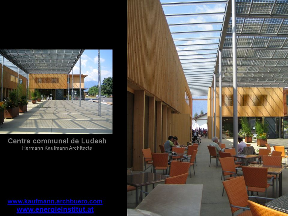 Centre communal de Ludesh Hermann Kaufmann Architecte