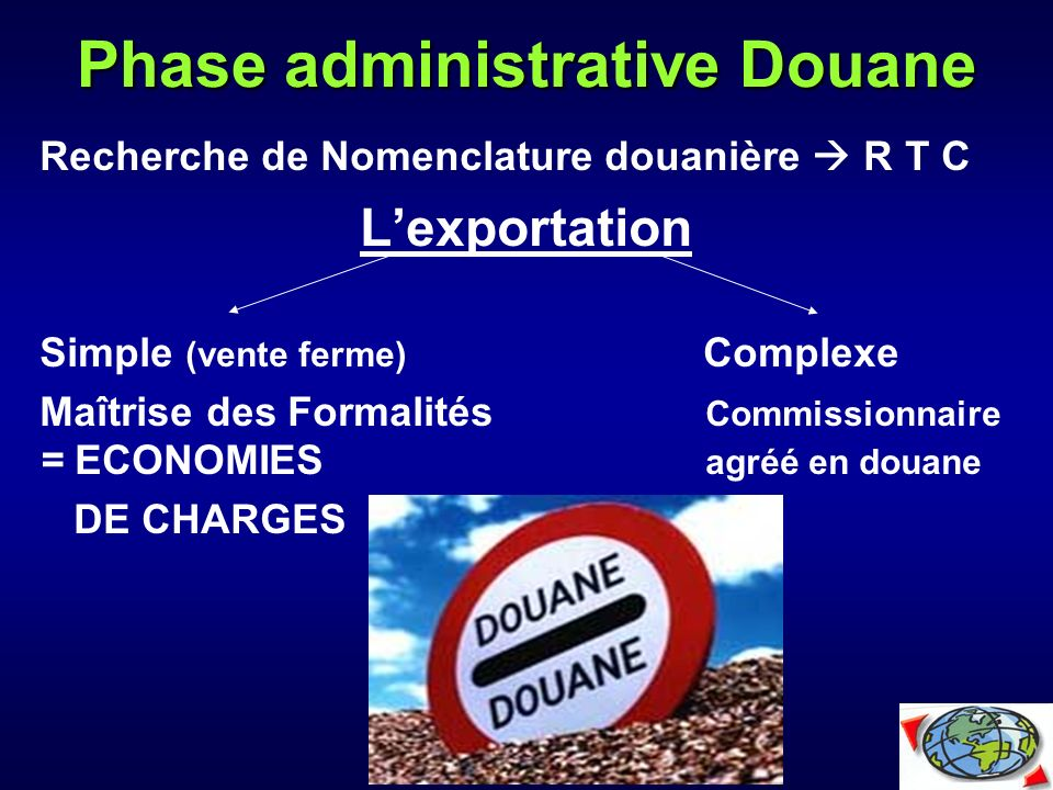 Phase administrative Douane