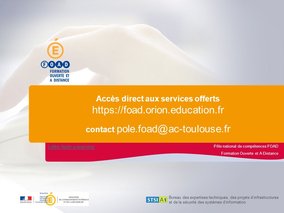 Offre de services Lettre flash e-learning