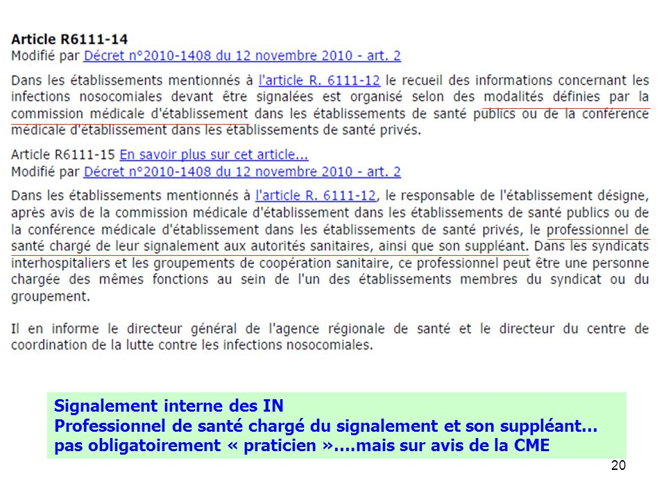 Signalement interne des IN