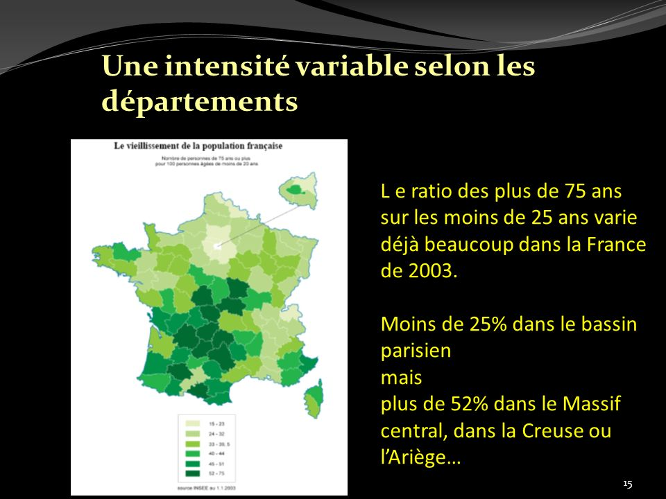 Une intensité variable selon les départements