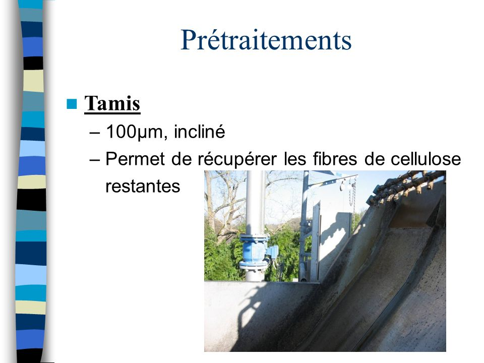 Prétraitements Tamis 100µm, incliné
