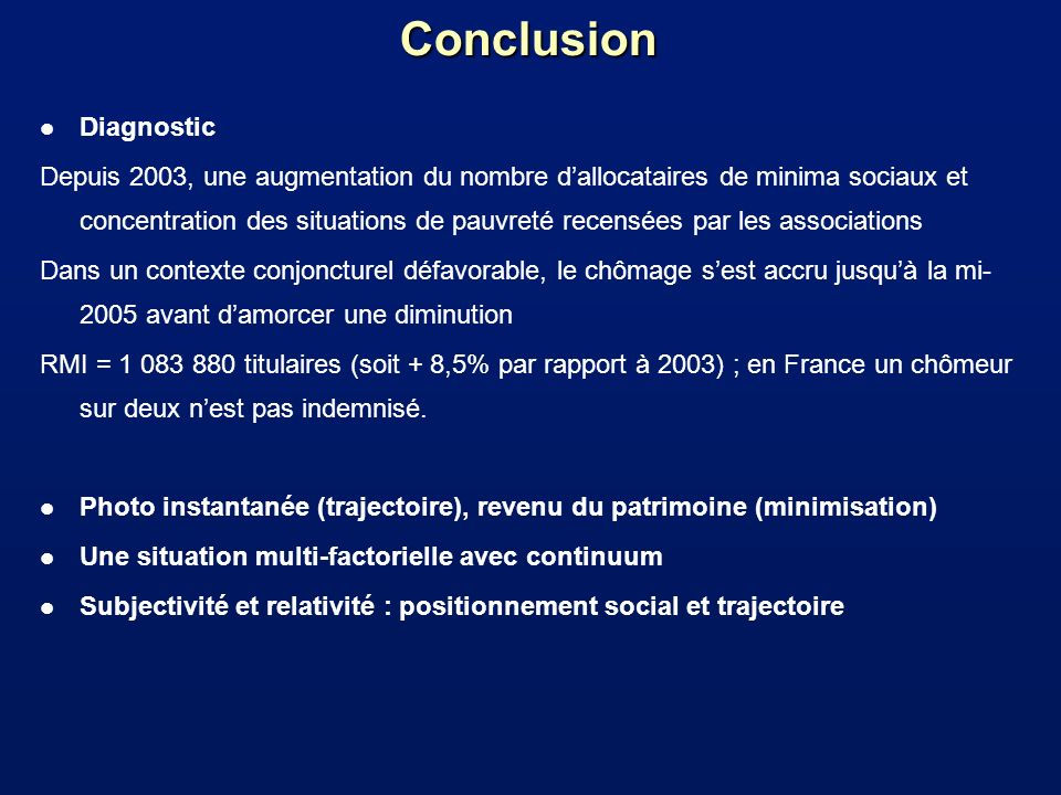 Conclusion Diagnostic