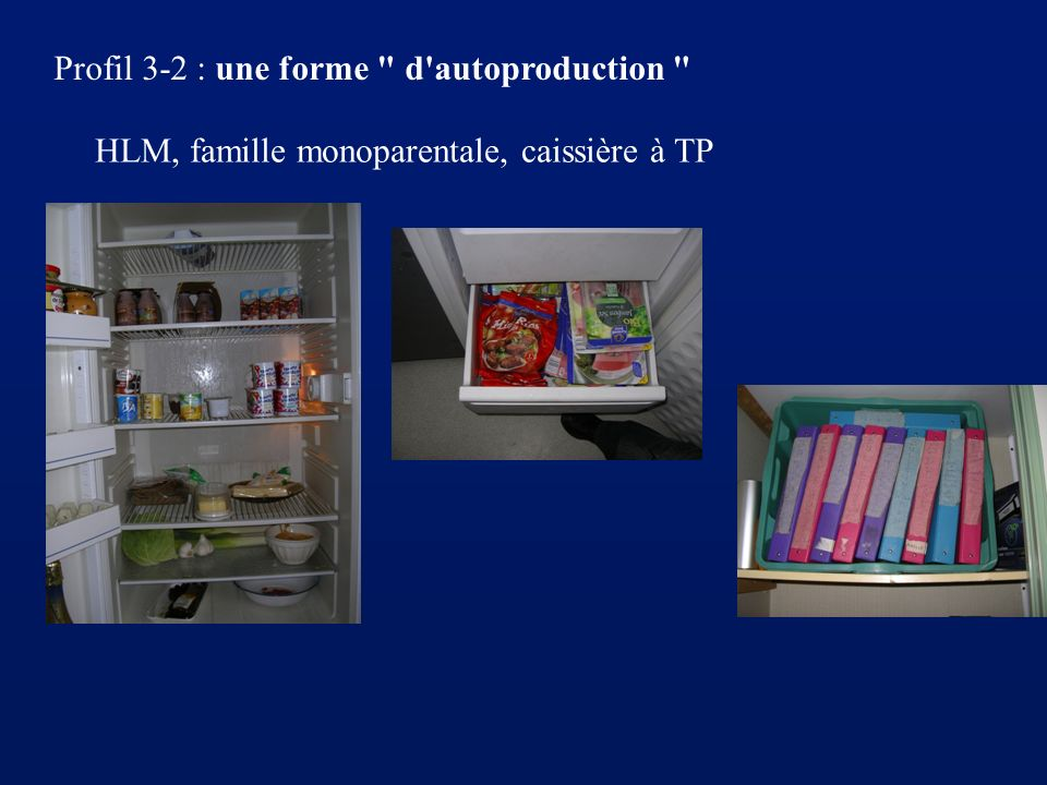 Profil 3-2 : une forme d autoproduction