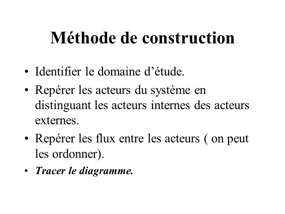 Méthode de construction