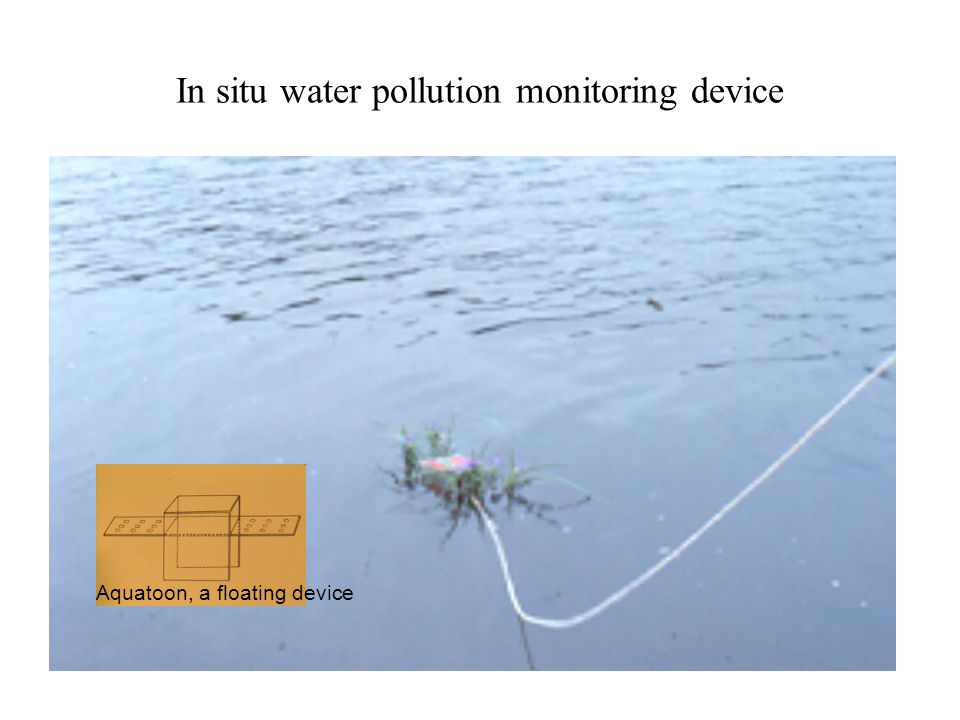In situ water pollution monitoring device