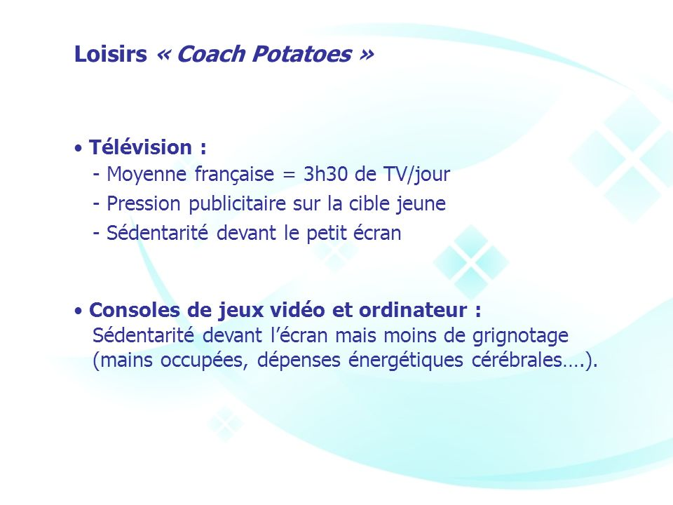 Loisirs « Coach Potatoes »