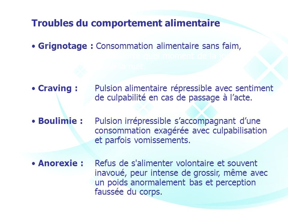 Troubles du comportement alimentaire