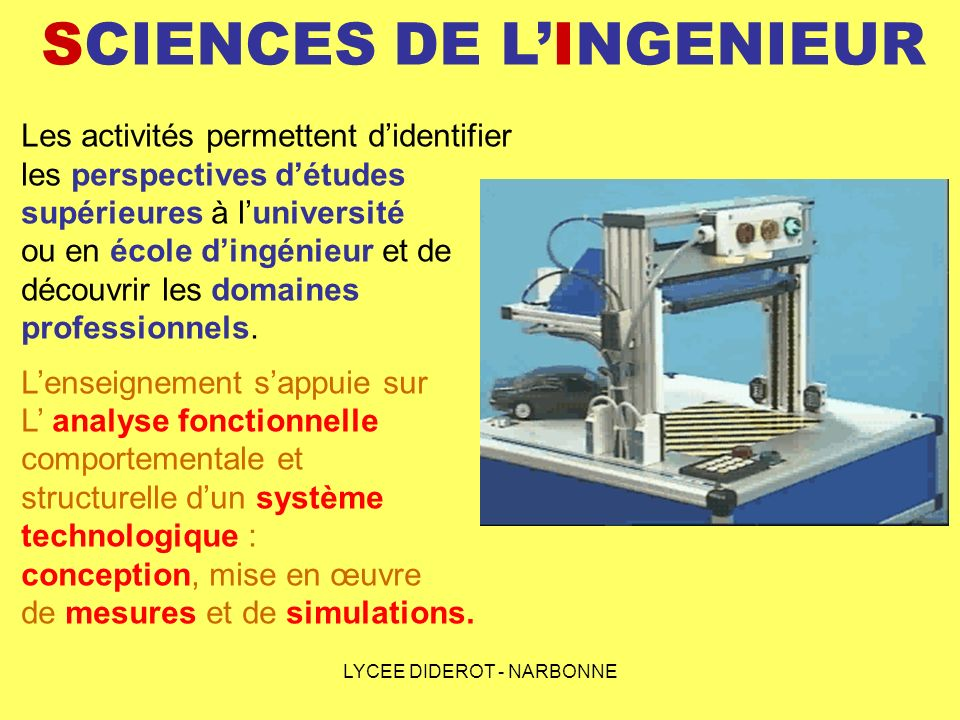 SCIENCES DE L'INGENIEUR