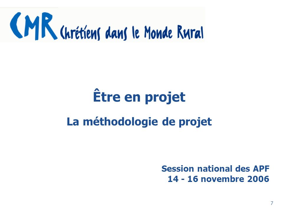 Session national des APF novembre 2006
