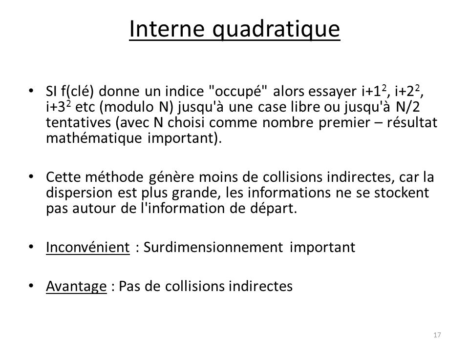 Interne quadratique