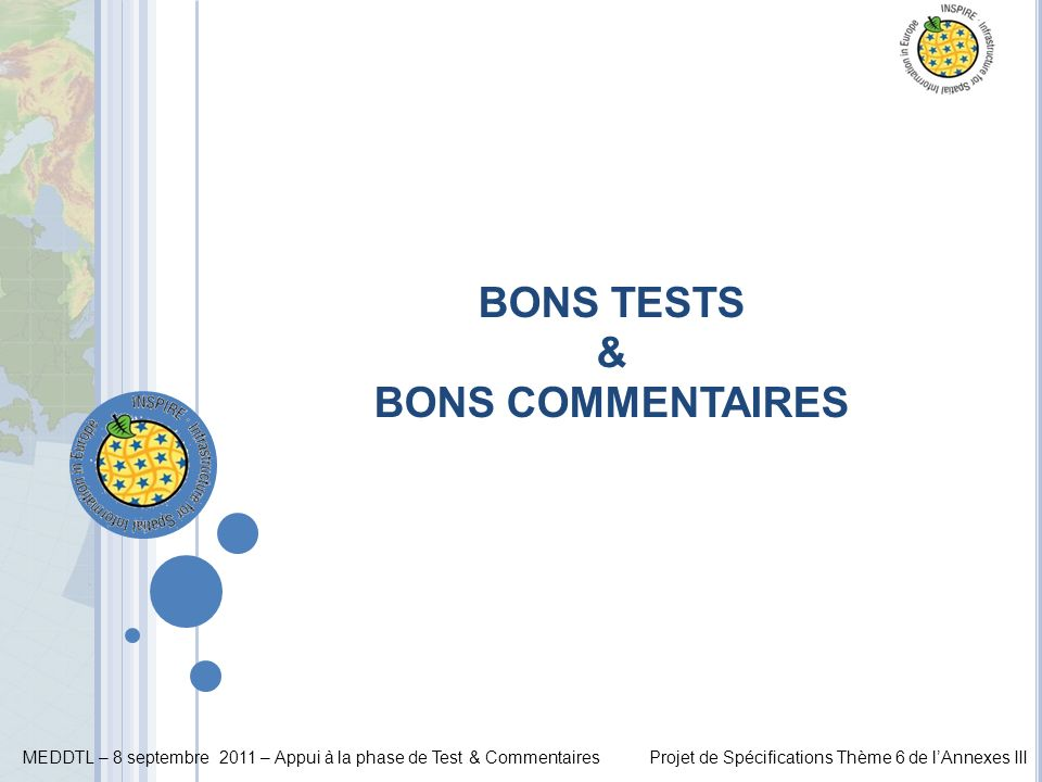 BONS TESTS & BONS COMMENTAIRES
