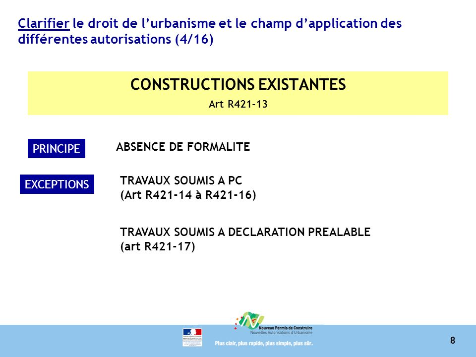 CONSTRUCTIONS EXISTANTES