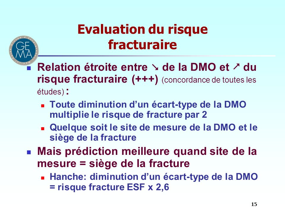 Evaluation du risque fracturaire