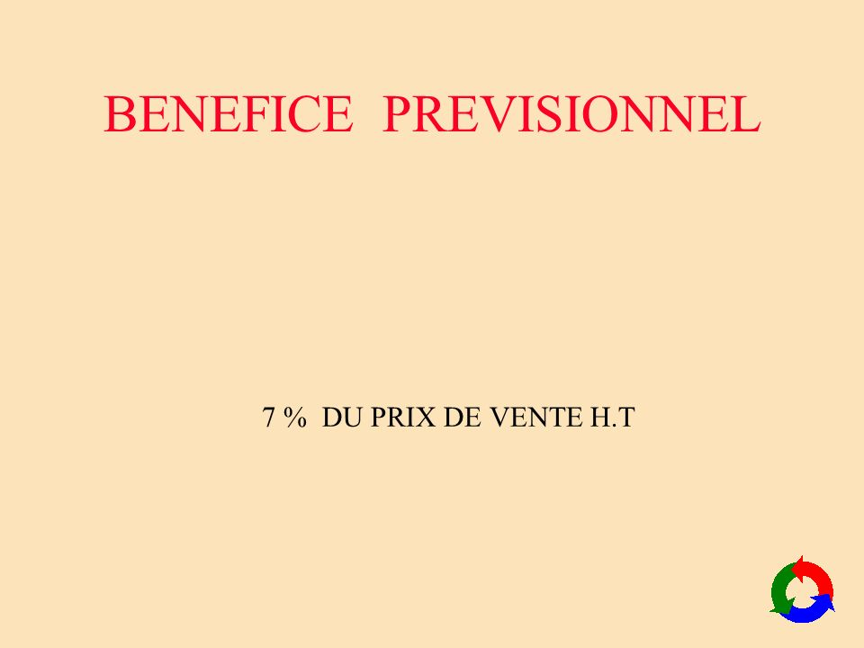 BENEFICE PREVISIONNEL
