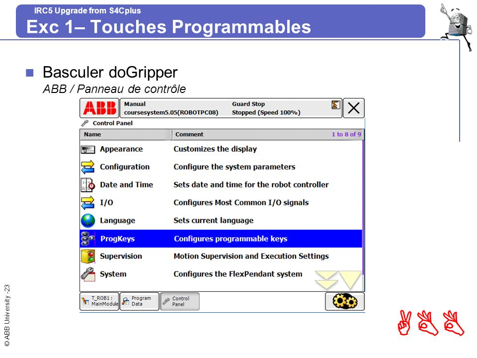 Exc 1– Touches Programmables