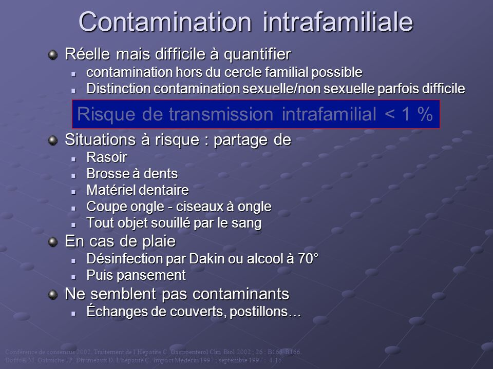 Contamination intrafamiliale