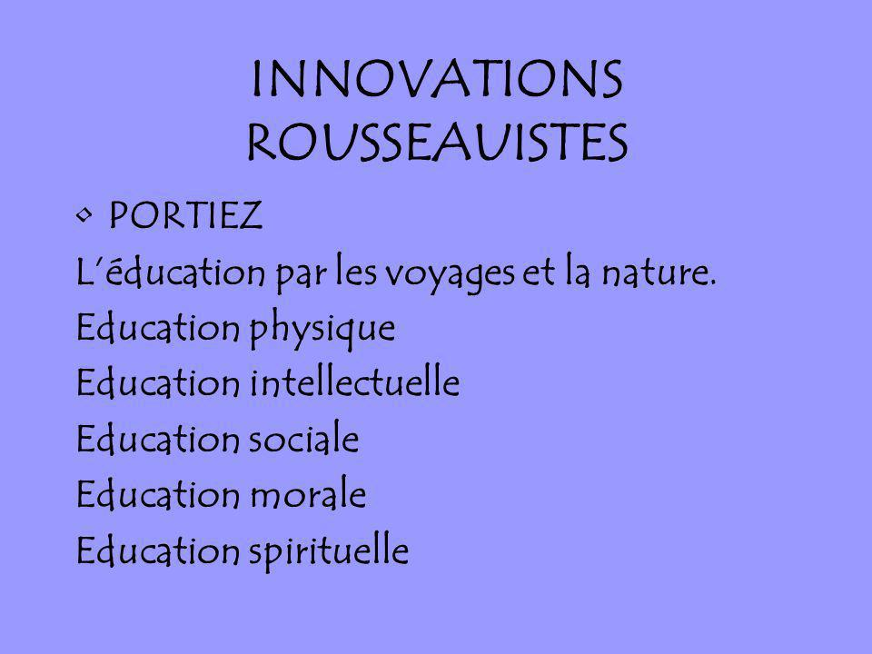 INNOVATIONS ROUSSEAUISTES