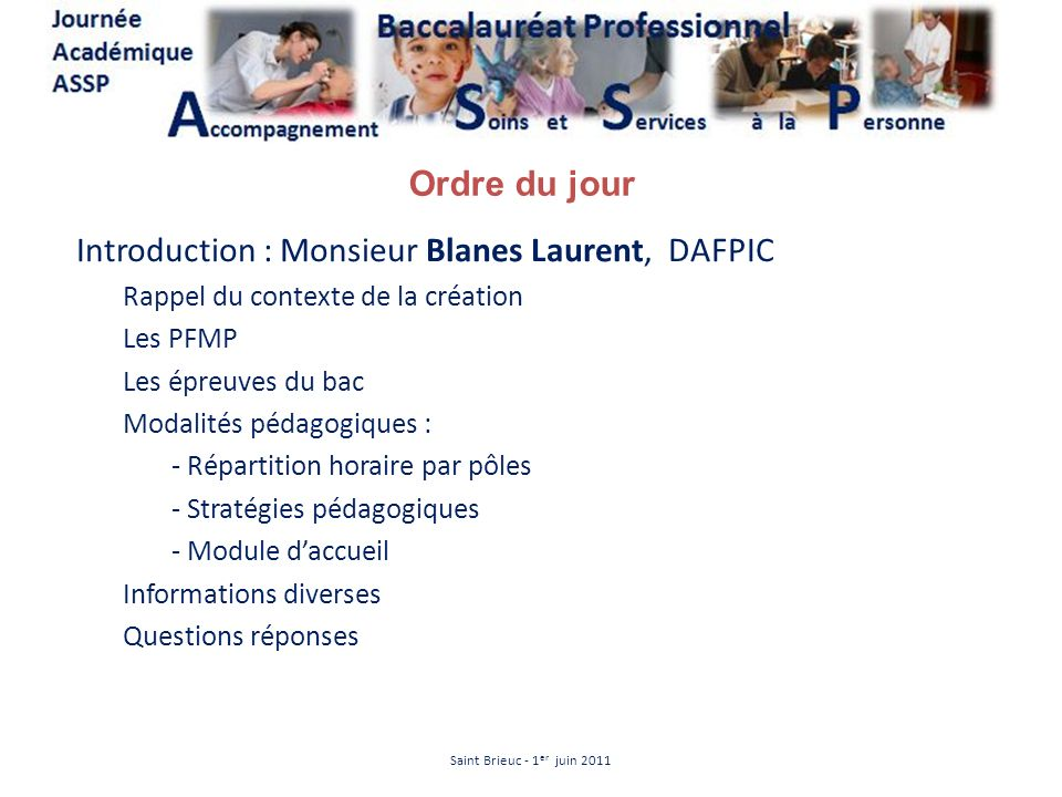 Introduction : Monsieur Blanes Laurent, DAFPIC