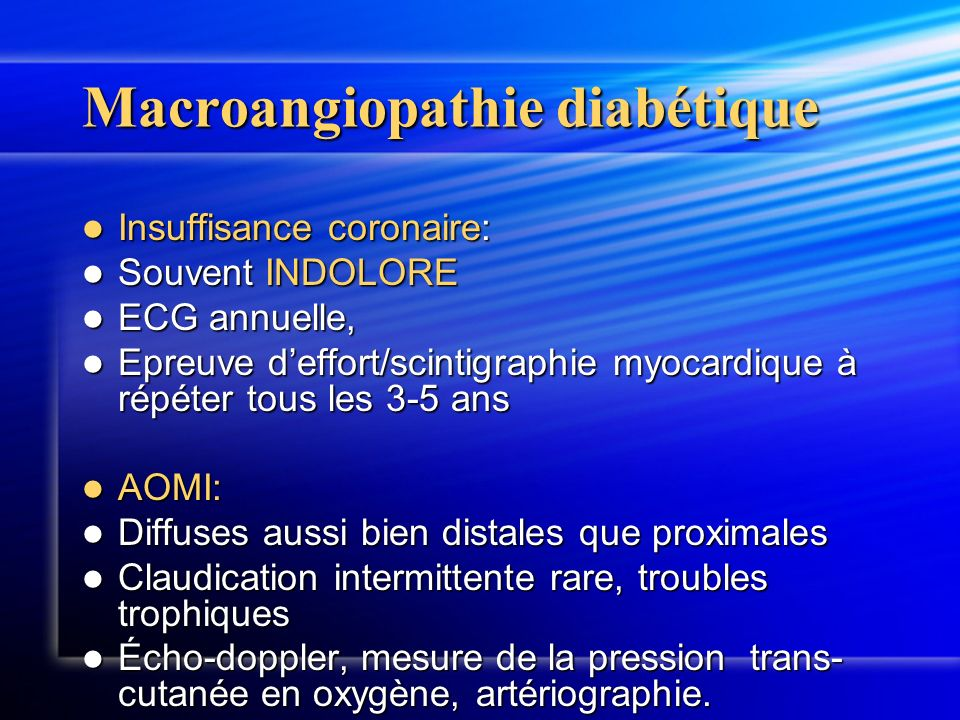 Macroangiopathie diabétique