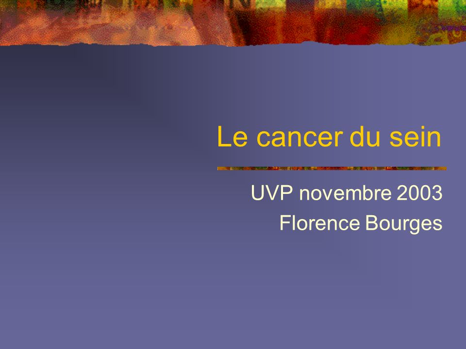 UVP novembre 2003 Florence Bourges