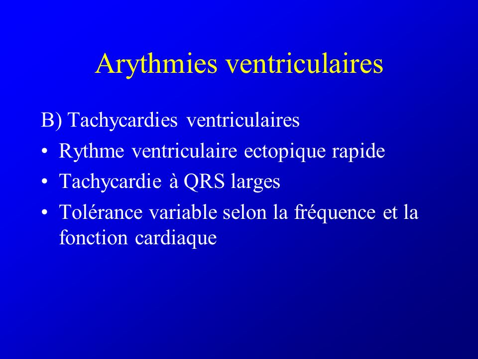 Arythmies ventriculaires