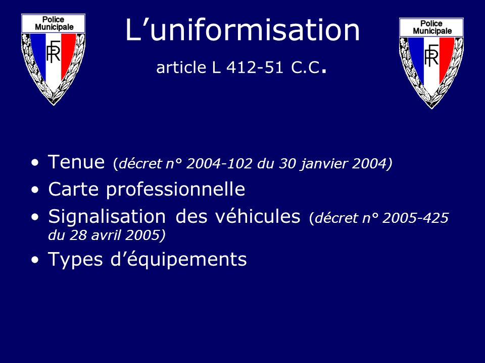 L'uniformisation article L C.C.