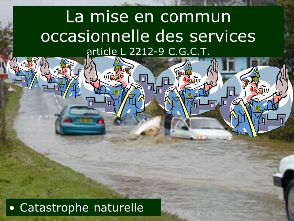 La mise en commun occasionnelle des services article L C.G.C.T.