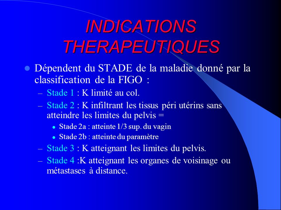 INDICATIONS THERAPEUTIQUES