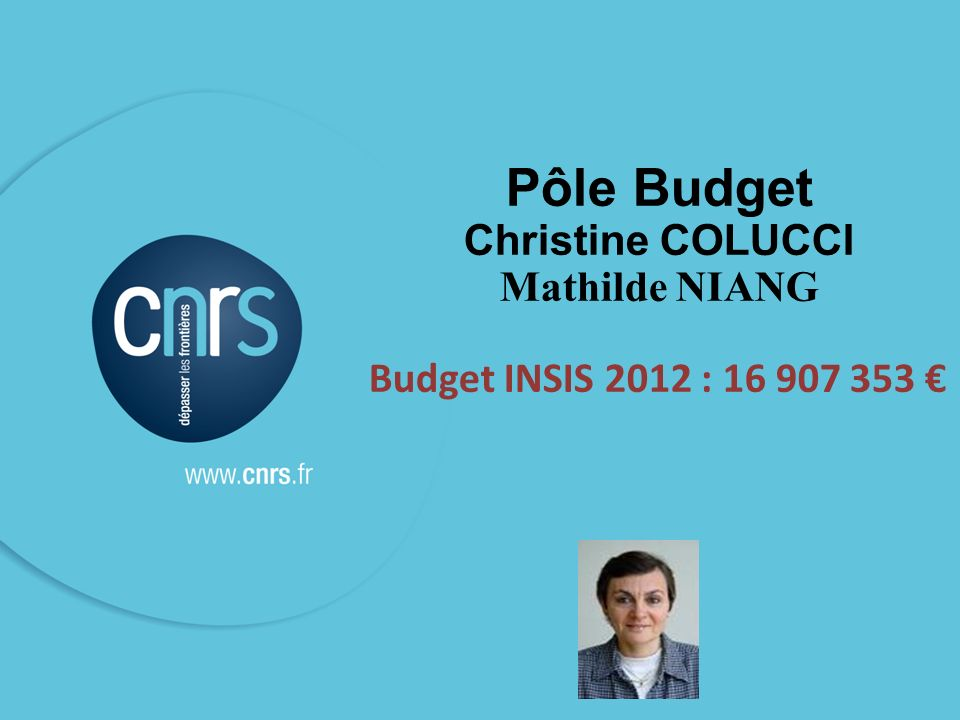 Pôle Budget Christine COLUCCI Mathilde NIANG