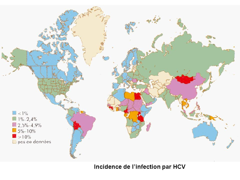 Incidence de l'infection par HCV
