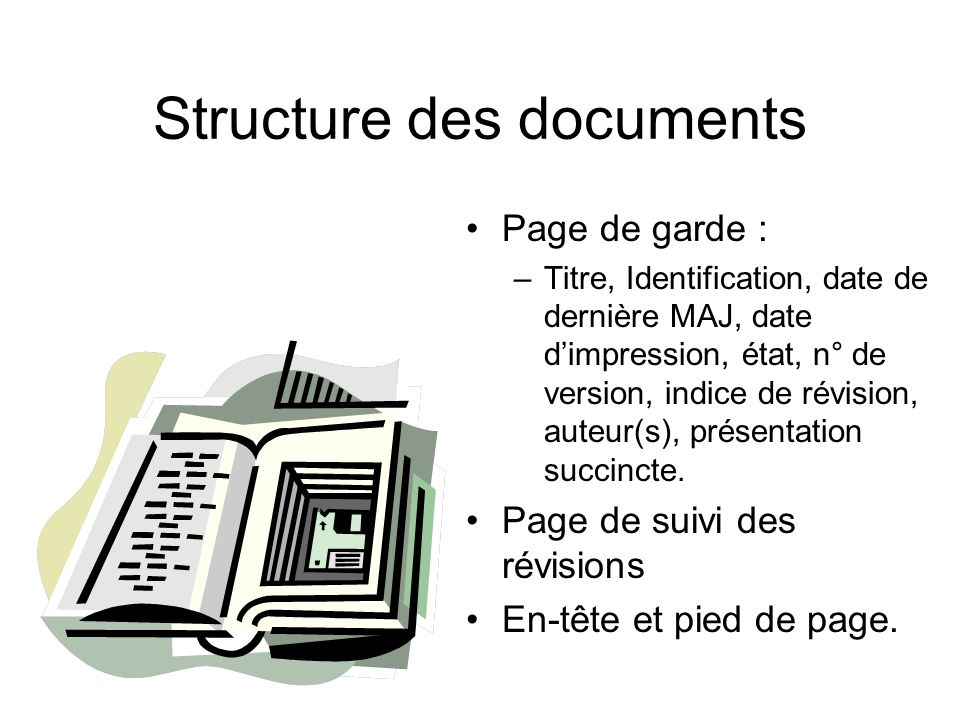 Structure des documents