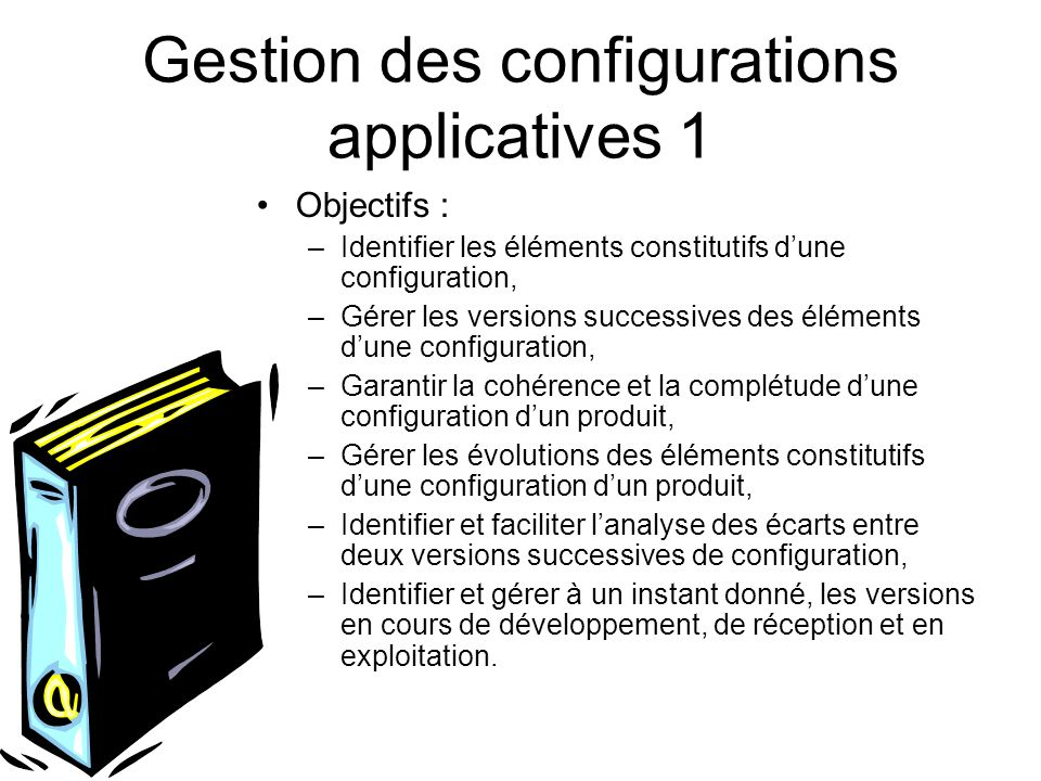 Gestion des configurations applicatives 1