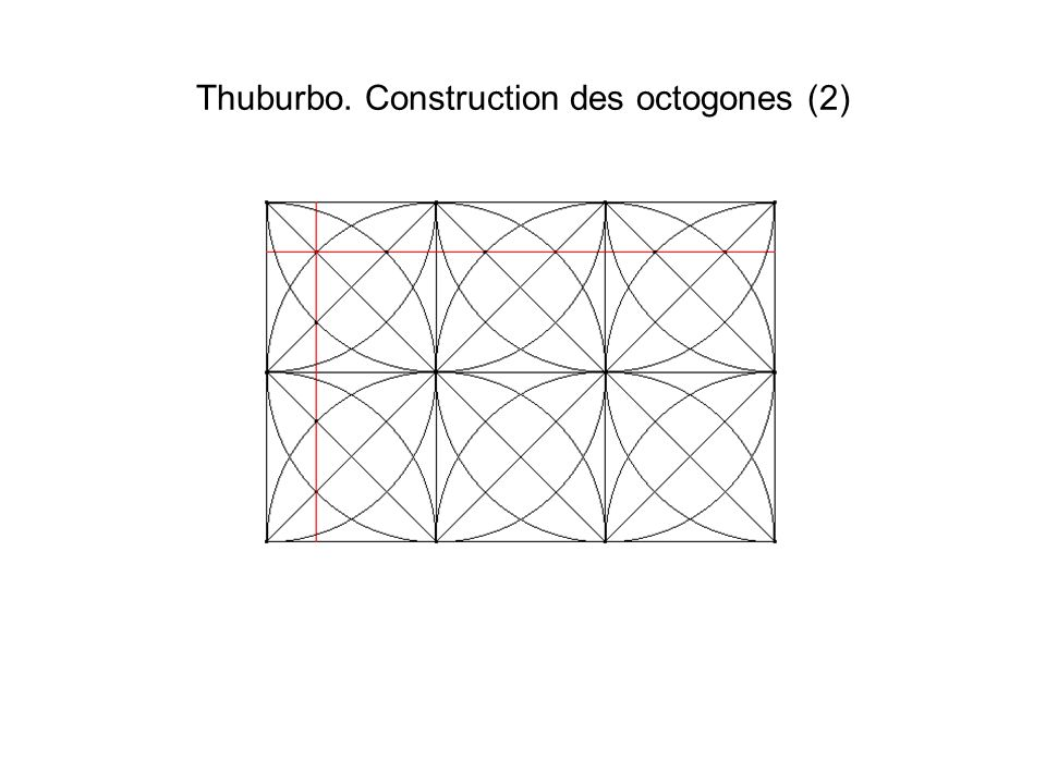 Thuburbo. Construction des octogones (2)
