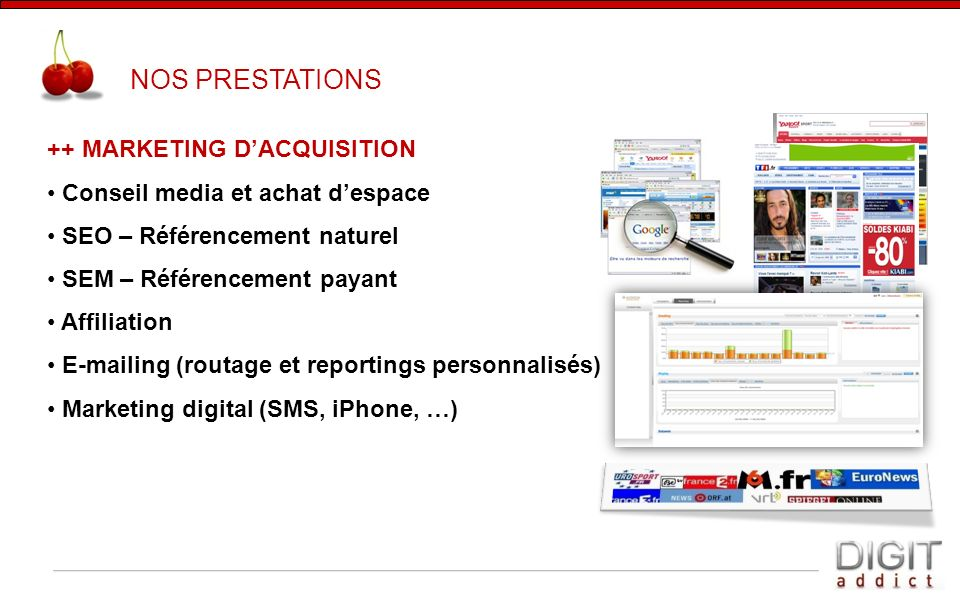 NOS PRESTATIONS ++ MARKETING D'ACQUISITION