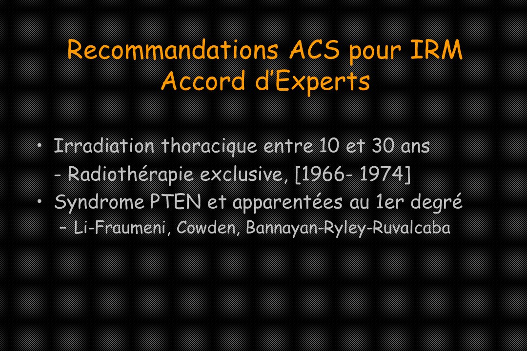 Recommandations ACS pour IRM Accord d'Experts