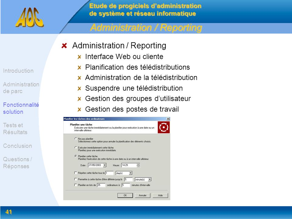 Administration / Reporting