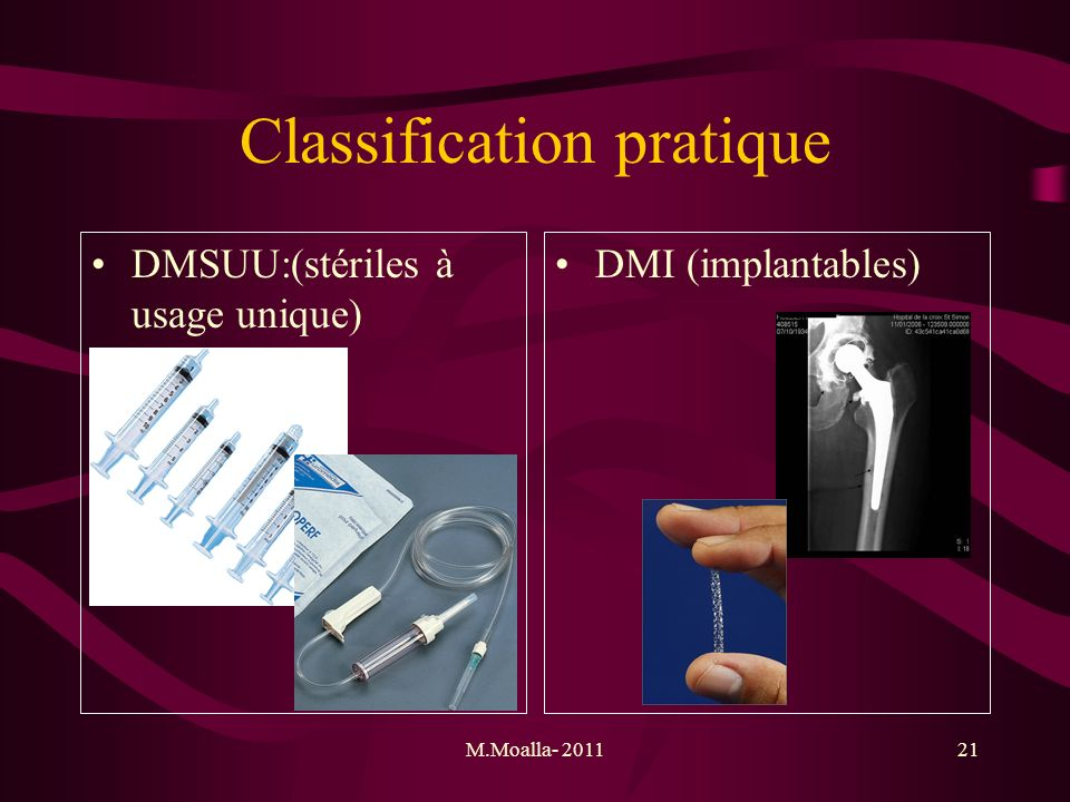 Classification pratique