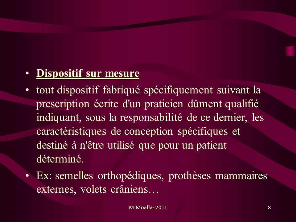 Dispositif sur mesure