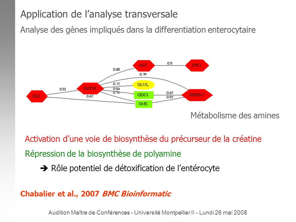 Application de l'analyse transversale