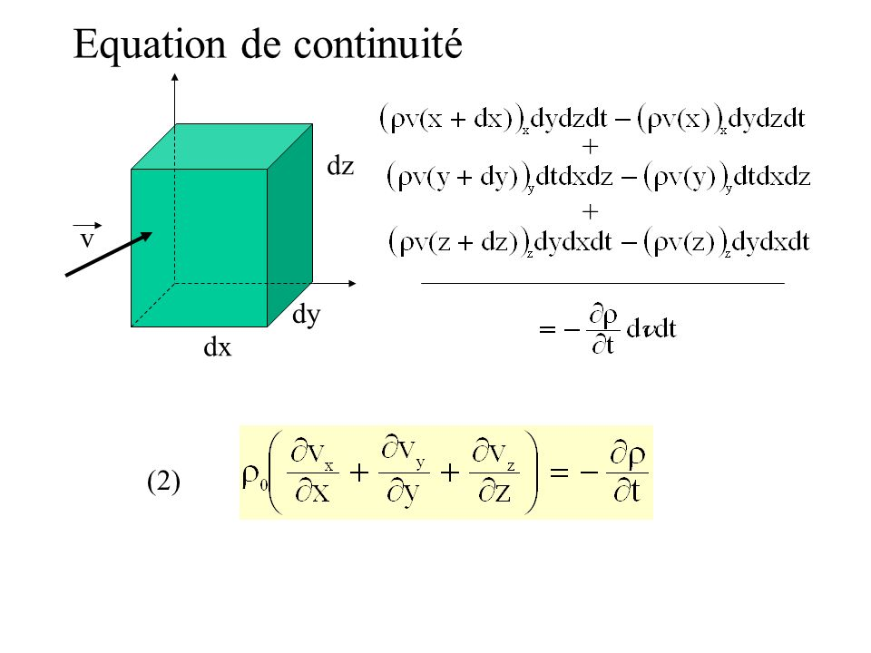 Equation de continuité