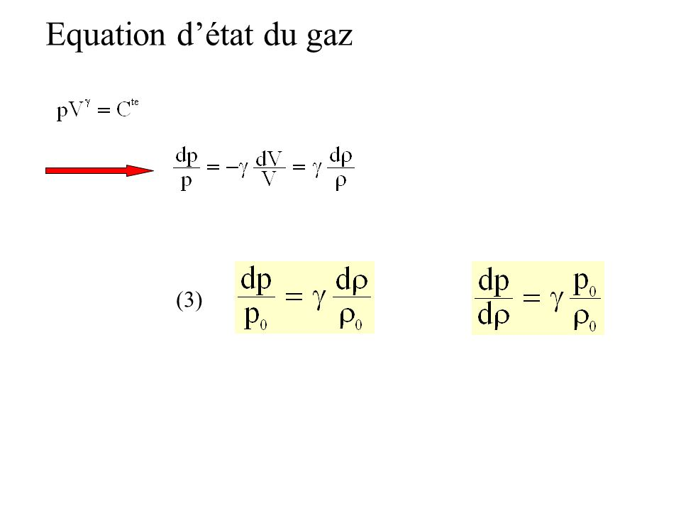 Equation d'état du gaz (3)