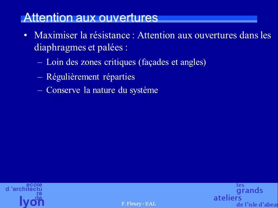 Attention aux ouvertures