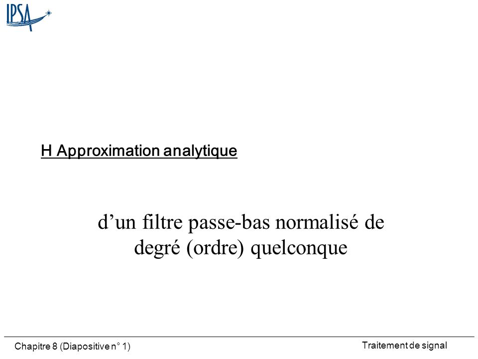 H Approximation analytique