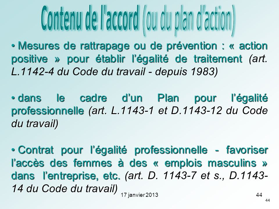 Contenu de l accord (ou du plan d'action)