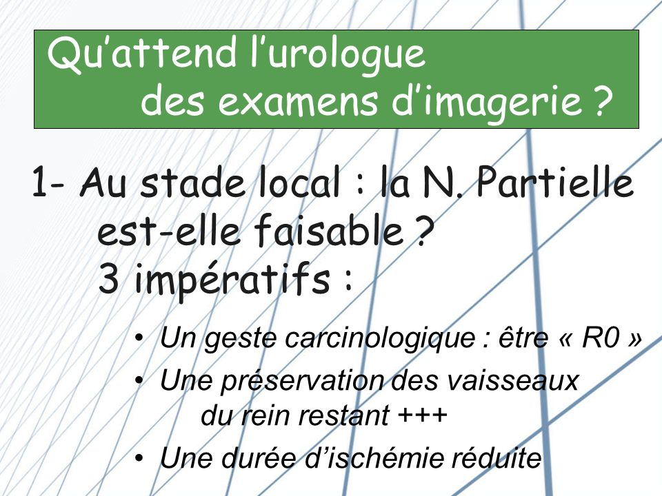 Qu'attend l'urologue des examens d'imagerie